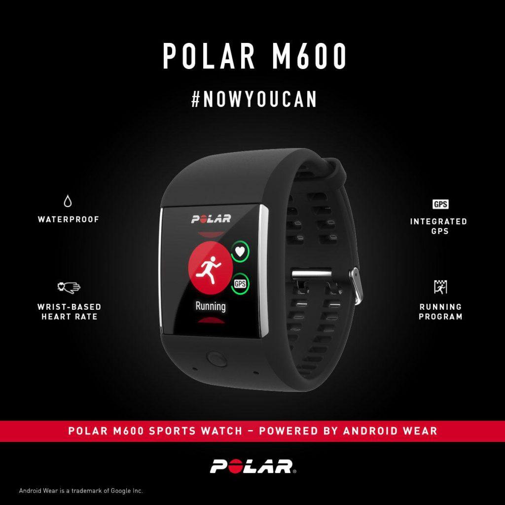 Contenido promocional del Polar M600 donde se destacan las principales prestaciones del reloj
