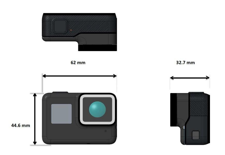 Dimensiones GoPro Hero5 Black