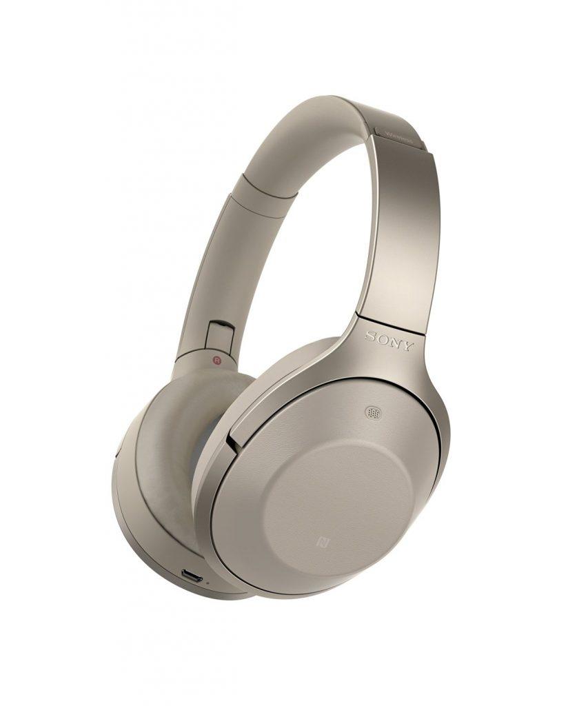 Los Sony MDR-1000X en color gris beige