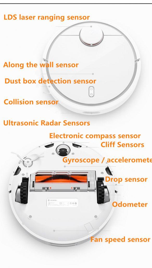 Sensores en el Xiaomi Mi Robot Vacuum 2