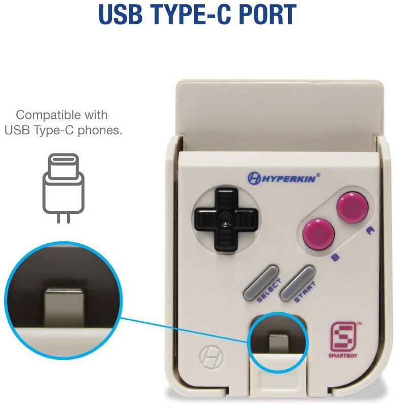 Puerto USB-C en el SmartBoy