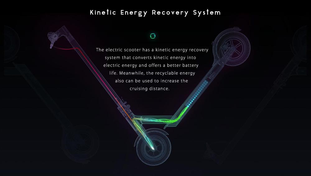 Promoción del sistema cinético para la recuperación de la energía en el Xiaomi M365