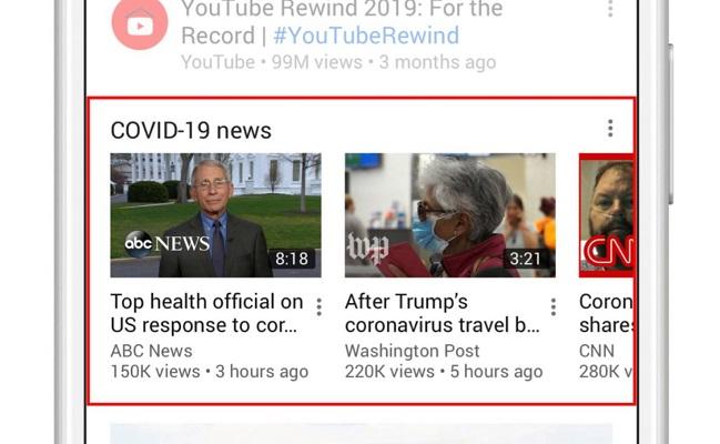 YouTube calidad vídeos coronavirus